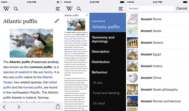 wikipediaios Wikipedia chega ao iOS com um aplicativo nativo