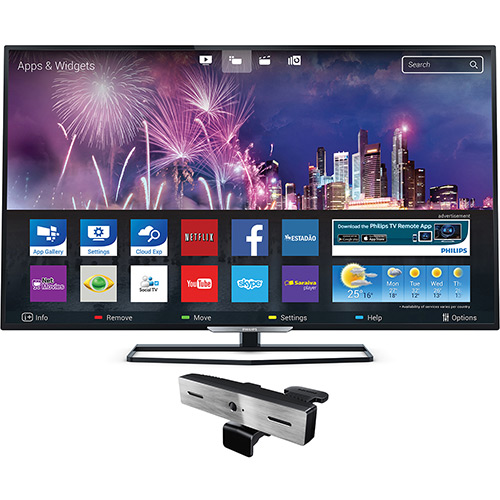 119979084 1GG1 Oferta do Dia | Smart TV LED 32 Philips  32PHG5509/78 + Câmera Skype, por R$ 899
