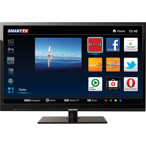 118703019 1GG Black Night 2014 | Smart TV Semp Toshiba Full HD 40 2 USB 3 HDMI Wi Fi, por R$ 1.049