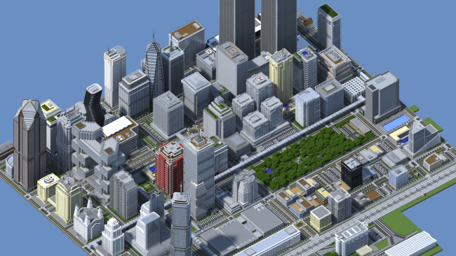 650 1000 mine 1 Essa cidade no Minercraft levou dois anos de trabalho e 4.5 milhões de blocos para ser construída