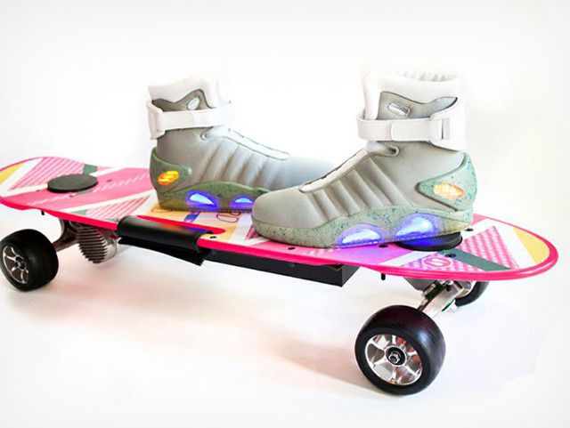hoverboard electric skateboard 1 Kit skate elétrico + tênis inspirado no filme De Volta Para o Futuro 2