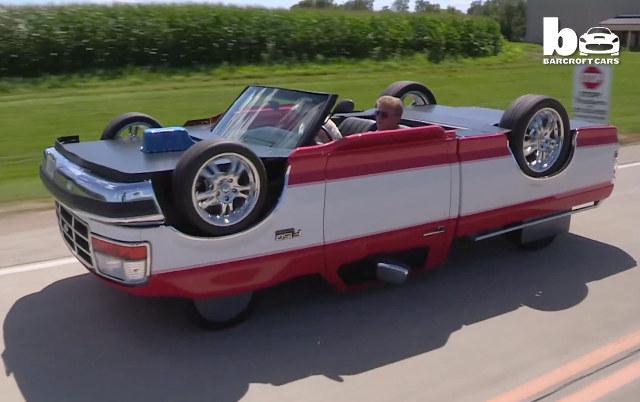 upside down truck Ter um carro invertido não é uma ideia tão ruim assim...