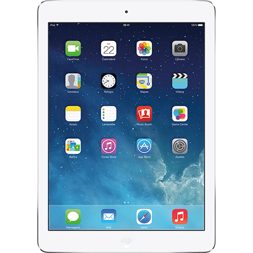 117124795 1GG1 Natal 2014 | iPad Air 16GB Wi Fi Prata   Apple, por R$ 1.199