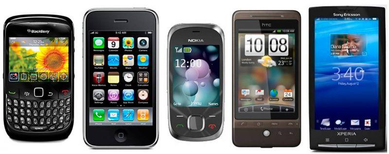 celulares e smartphones de 2009