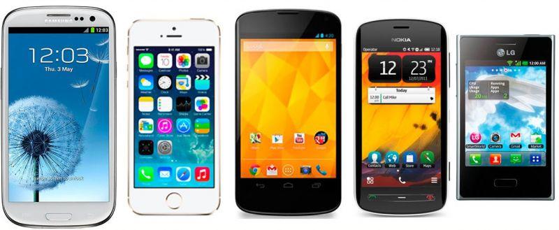 smartphones de 2012