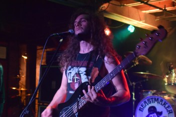 John Tucker (bass) from the band Beastmaker during their stop at The Masquerade with Monolord.