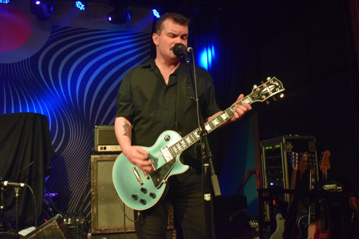 Steve Brooks (lead vocals/guitar) from the band Torche during their recent performance at The Masquerade in support of Red Fang.