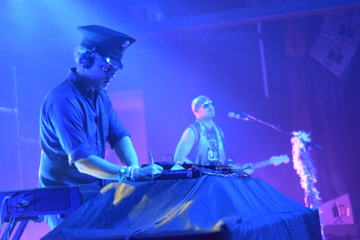 D.J. Harry and Zion Godchaux of the band BoomBox at their sold out Terminal West dance party.
