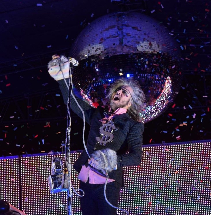 Wayne Coyne from The Flaming Lips during their performance at The Major Rager (2017) in Augusta, Ga.