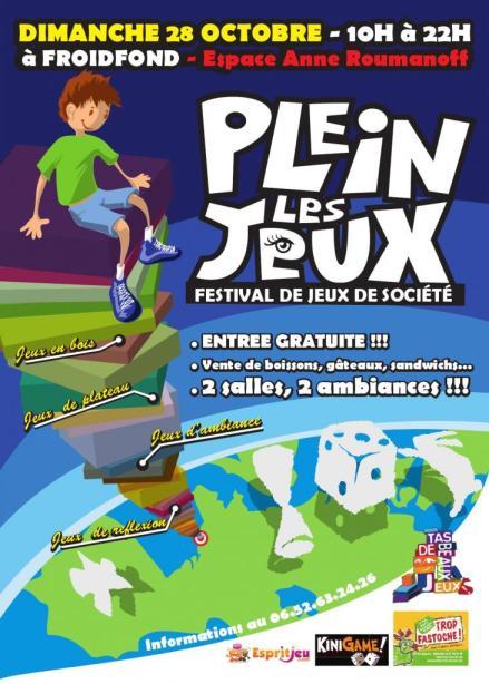 Plein les jeux, journée jeux de société à Fondfroid le 28 octobre 2012