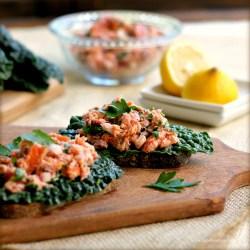Small Crop Of Smoked Salmon Salad