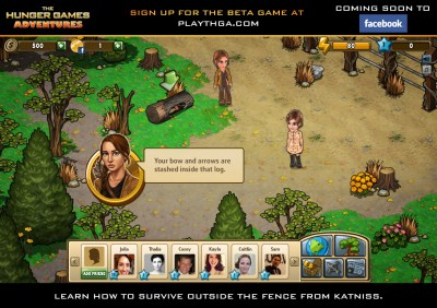 The Hunger Games Facebook Game