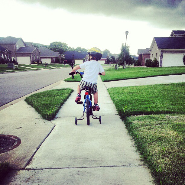 Ollie on his bike 7.22.12