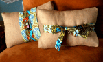 More Burlap Projects: 15-Minute Burlap Pillow Covers