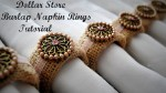 Burlap Napkin Rings Tutorial {Dollar Store Project}