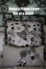 Make a Ruffly Pillow Cover out of a Scarf!