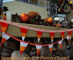 Fall Project — Reversible Candy Corn Bunting!