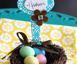Spring Project — make Nest Placecards {Letterpress Tutorial}