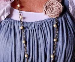 J Crew-Inspired Threaded Necklace (with rosette)!