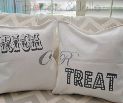 Trick or treat pillow