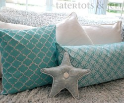 stenciled pillows three