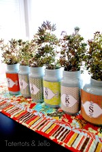 Make a Thankful Jar Centerpiece {Thanksgiving Jars}!!