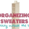 organizing sweaters