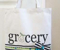 Make a DIY Stenciled Grocery Tote! (tutorial)