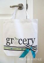 Make a DIY Stenciled Grocery Tote! (tutorial)