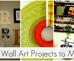 25 DIY wall art projects to make