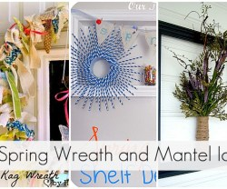 30 spring wreath and mantels