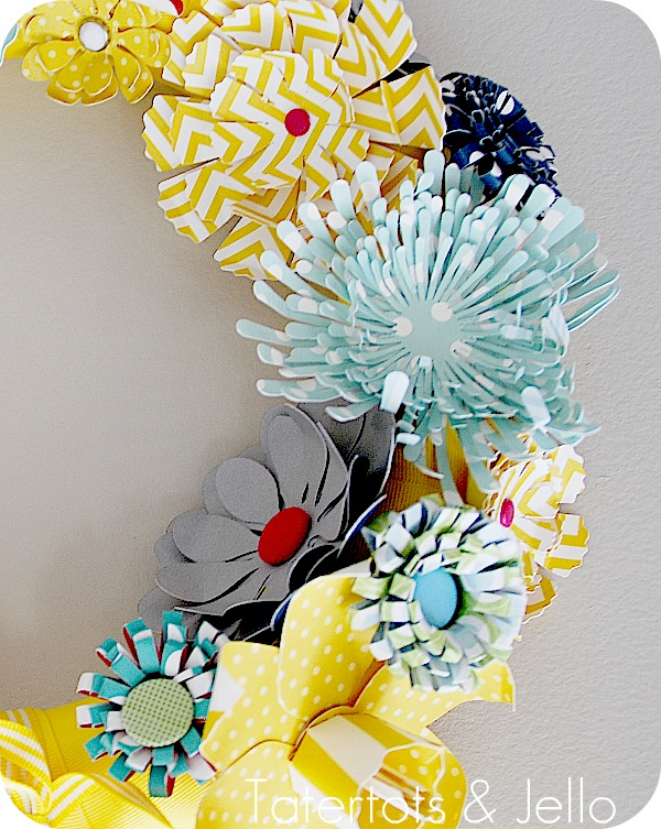 Make a Spring Paper Wreath!