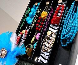 silverware tray chalkboard Jewelry Organizer