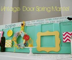 vintage Door Spring Mantel