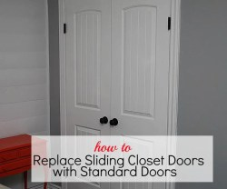 How To Replace Sliding Closet Doors with Standard Doors (tutorial)