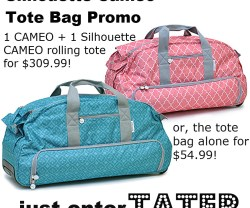 silhouette cameo two totes deal information