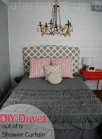 Make a Duvet Cover from a Fabric Shower Curtain!