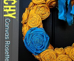beachy canvas rosette wreath tutorial