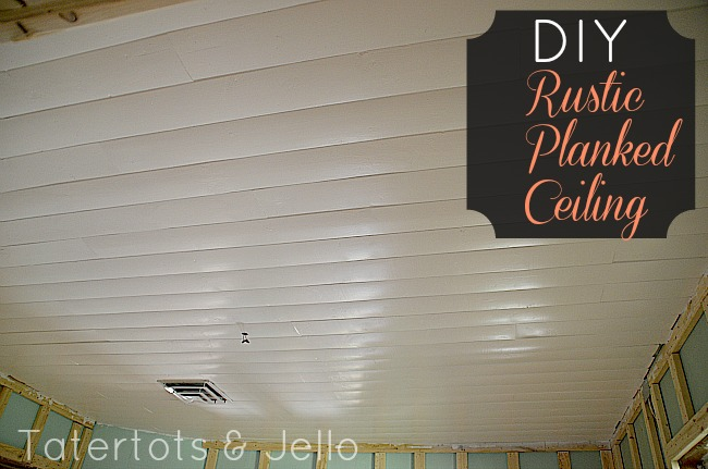 DIY Rustic Planked Ceiling