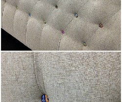 colorful button headboard
