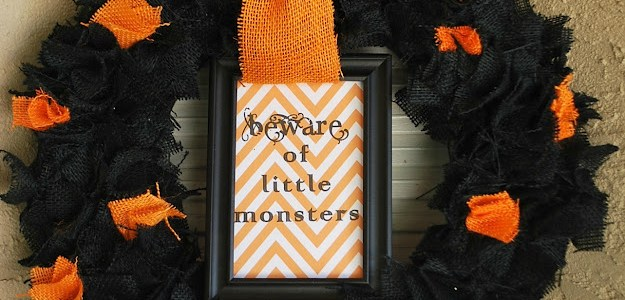 little monster wreath