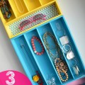 3 colorful jewelry containers