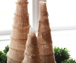HAPPY Holidays – DIY Burlap Trees!