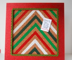 chevron christmas memo board