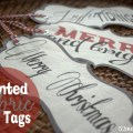 printed fabric gift tags
