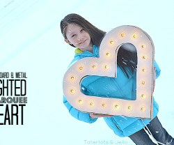 Make a DIY Lighted Marquee Letter Heart! #LowesCreator