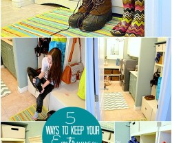 FIVE Ways to Keep Your Entryway Clean and Organized!