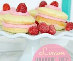 Lemon Whoopie Pies with Fresh Raspberry Filling!