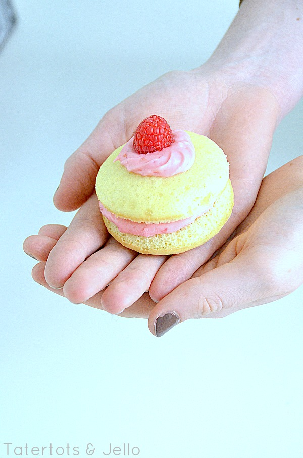 Lemon Whoopie Pies with Fresh Raspberry Filling! -- Tatertots and ...