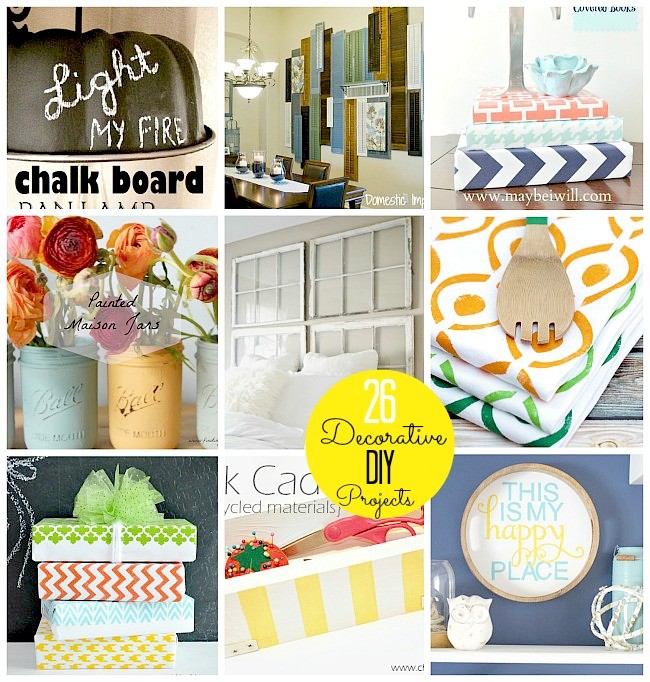 26 Decorative DIY projects